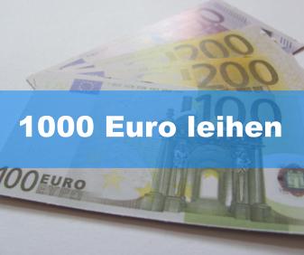1000 Euro leihen