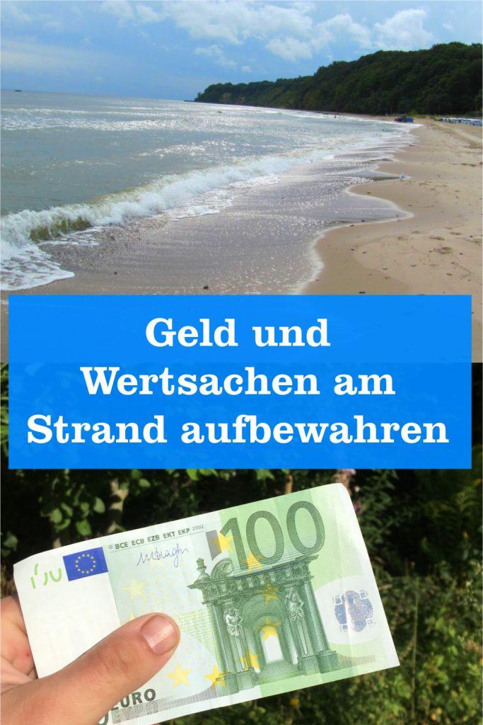 Geld und Wertsachen am Strand aufbewahren